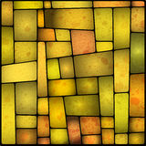 Bright and colourful stained galss window Stock Illustration