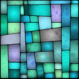 Bright and colourful stained galss window Royalty Free Stock Images