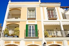 Bright colours of sunny modern Spanish Pueblo Royalty Free Stock Photo