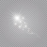 A bright comet with . Falling Star. Glow light effect. Vector illustration royalty free illustration