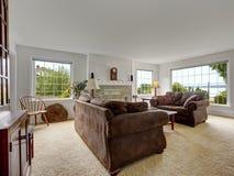 Bright comfort living room interior Royalty Free Stock Image