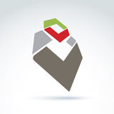 Bright complex geometric corporate element created from separate parts Stock Photography