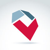 Bright complex geometric corporate element created from separate parts Royalty Free Stock Photography