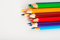 Bright composition of color pencils Stock Photos
