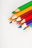 Bright composition of color pencils Royalty Free Stock Photos