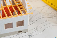 Bright composition of professional building stuff Royalty Free Stock Image