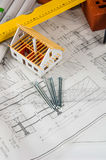 Bright composition of professional building stuff Stock Photo