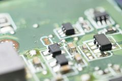 Bright computer hardware background Stock Images