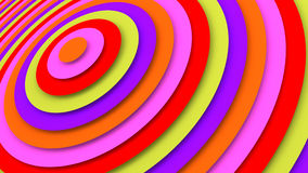 Bright concentric circles 3D render. Bright concentric circles. Abstract 3D render background Royalty Free Stock Photo