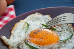 Bright concept of breakfast with egg Stock Photography