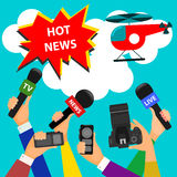 Bright concept on the theme of breaking news. flat style Royalty Free Stock Images
