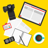 Bright concept on the theme of breaking news. flat style Royalty Free Stock Photo