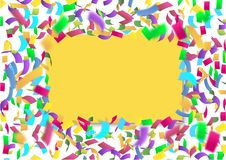 Bright confetti, advertising background Stock Photography