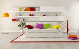Bright contemporary living room Royalty Free Stock Photos