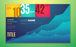 Bright contrast colors infographic set with progress chart, boxes, text and numbers. Vector creative modern eps10 illustration Royalty Free Stock Photo