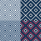 Bright contrast seamless geometrical pattern Stock Images