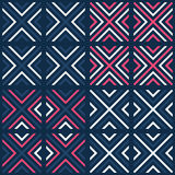 Bright contrast seamless geometrical pattern Royalty Free Stock Images