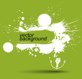 Bright contrast splattered web design repeat pattern, art ink bl Stock Image