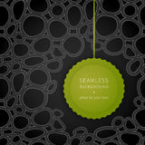 Bright contrast spotted seamless pattern. Drops background. Bright green label on dark abstract backdrop. It can be used for wallpaper, pattern fills, web page Stock Photos