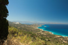 Bright contrasting views of the Aegean Sea. Crete. Bright contrasting views of the Aegean Sea Stock Images