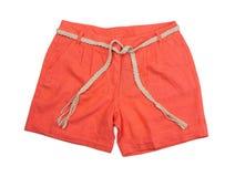 Bright coral shorts Royalty Free Stock Photo