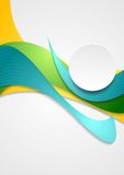 Bright corporate smooth bends. Vector colorful Stock Photography