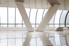 Bright corridor with column. Bright corridor with two white column Stock Photography