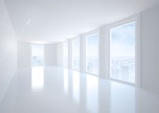Bright corridor with windows Royalty Free Stock Images