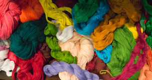 Bright cotton thread in many colors for weaving Royalty Free Stock Images