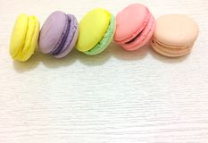 Bright couloured macaroons Stock Photo