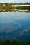 Bright country lake scenery Stock Photo