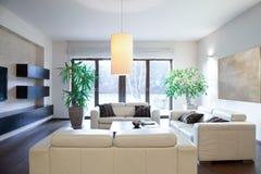 Bright cozy apartment Stock Photos