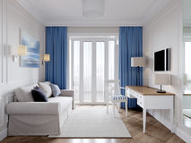 Bright and cozy room in modern classic style Royalty Free Stock Photography
