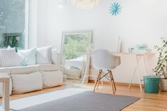Bright cozy room. Bright small cozy room with sophisticated decorations Royalty Free Stock Photos