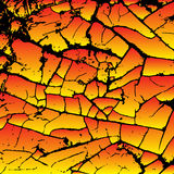 Bright cracking texture. Grunge background. Pattern with cracks. Stock Photos