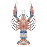Bright crawfish, zodiac Cancer sign vector illustration
