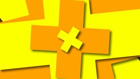 Bright cross shapes, cartoon style backdrop, computer generated modern abstract background, 3d render. Ing stock footage