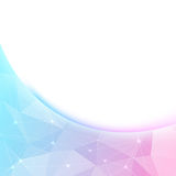Bright crystal shine border background template. Vector illustration Royalty Free Stock Images