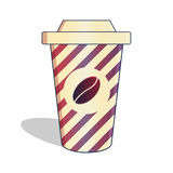 Bright cup of coffee Royalty Free Stock Photography