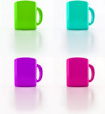 Bright cups Royalty Free Stock Images