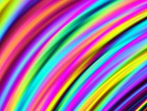 Bright curved colors Stock Photos