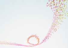 Bright curved line particle flow Stock Image