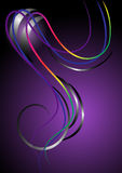 The bright curved stripes on purple background.Ban Stock Photos