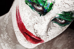 Bright custom portrait of a girl with an unusual make-up Stock Photography