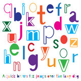 Bright cute alphabet Stock Photography