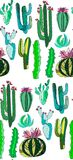 Bright cute beautiful abstract lovely mexican tropical floral herbal summer green set   Royalty Free Stock Images