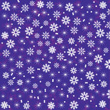 Bright  and cute  Christmas background with snowfl Royalty Free Stock Photos