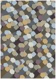 Bright 3D columns wallpaper. Colorful illustration of bright dimensional mosaic tiles stock illustration