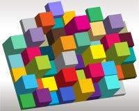 Bright 3d cubes Royalty Free Stock Photos
