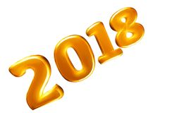 Bright 2018 3D year Stock Photos